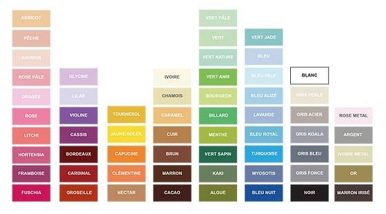 Nuancier couleurs papier carte voeux faire part correspondance loisir creatif quilling broderie scrap