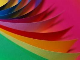 Nuancier feuille de papier couleur quilling paperolles