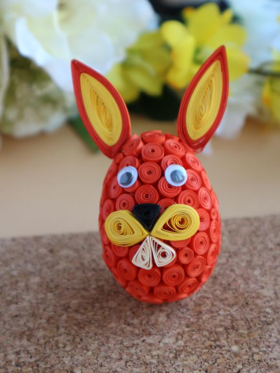 Oeuf quilling lapin loisir creatif eugenie