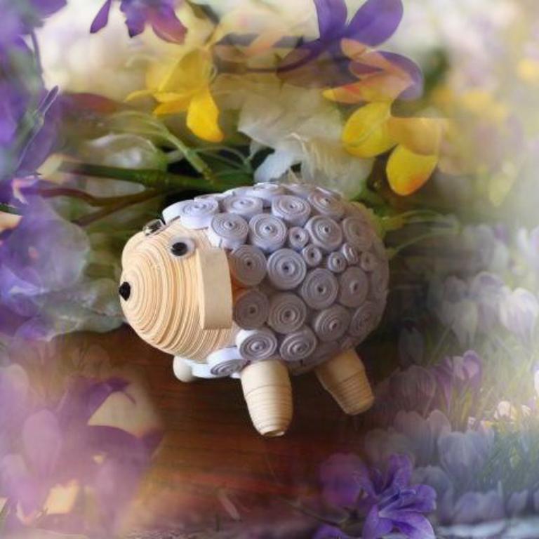Oeuf quilling mouton loisir creatif eugenie