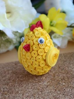 Oeuf quilling poussin loisir creatif eugenie