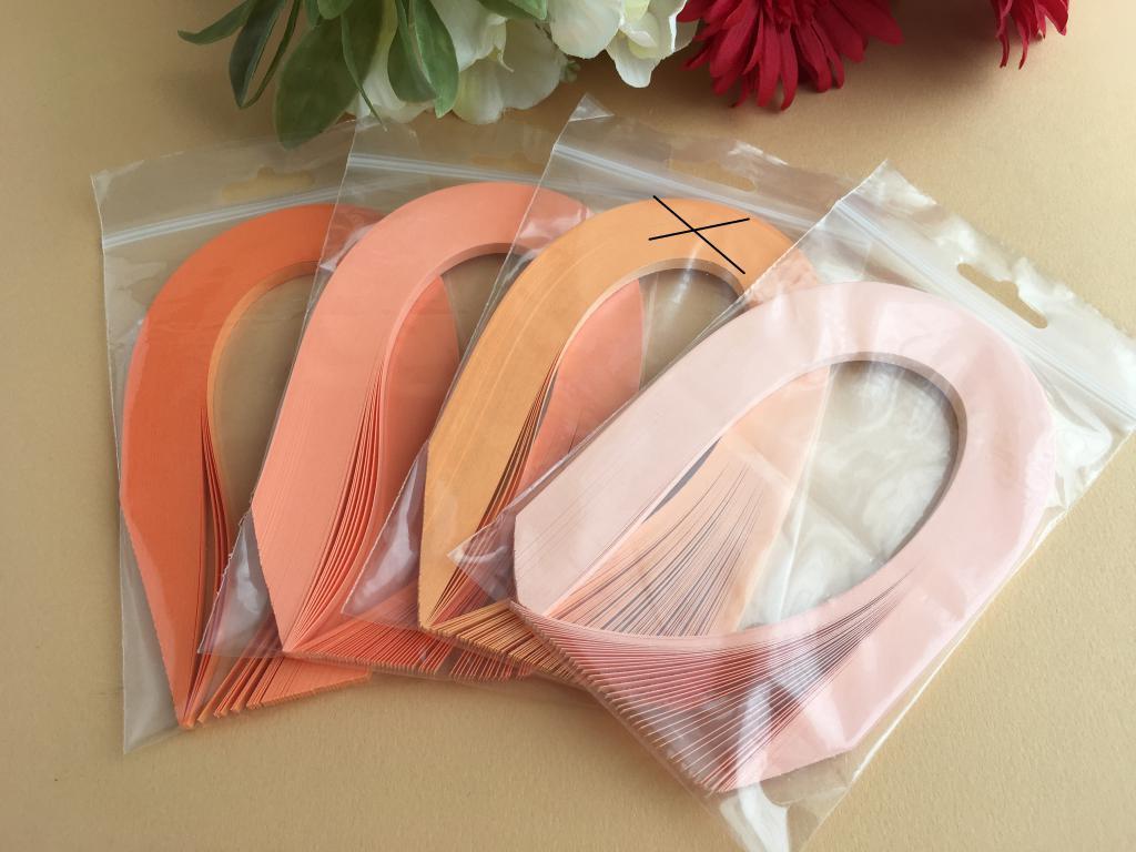 Orange assortiement bande papier quilling loisir creatif 02