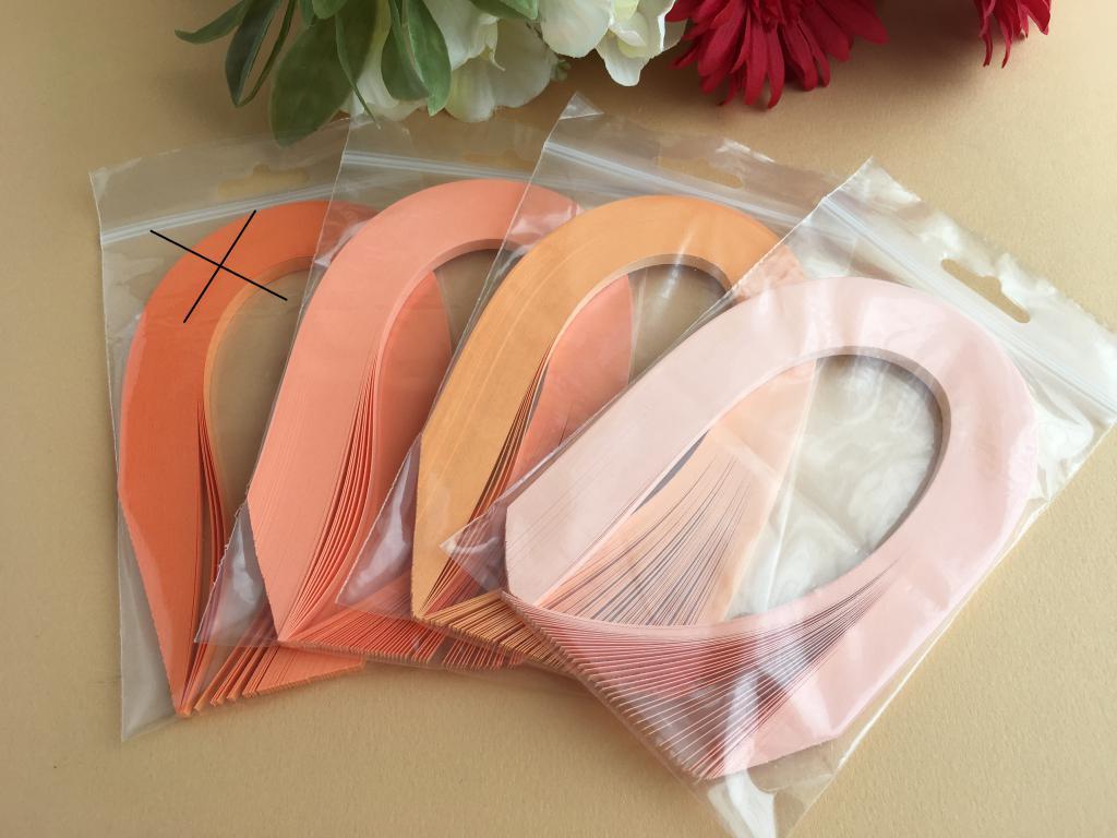 Orange assortiement bande papier quilling loisir creatif 04