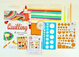 Outil materiel quilling papier roule paperolle formule 50 livre loisirs creatifs eugenie