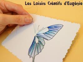 Papillon broderie papier carte a broder fil aiguille loisir creatif eugenie bleu metallique copie