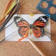 Papillon quilling en cours de realisation loisirs creatifs