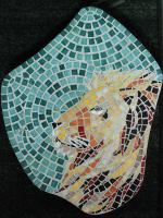 Pas japonais tete de lion mosaique 2
