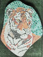 Pas japonais tigre mosaique loisirs creatifs 2