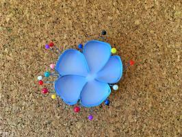 Quilling contour fleur de lin bande de papier 7mm bleu lavande