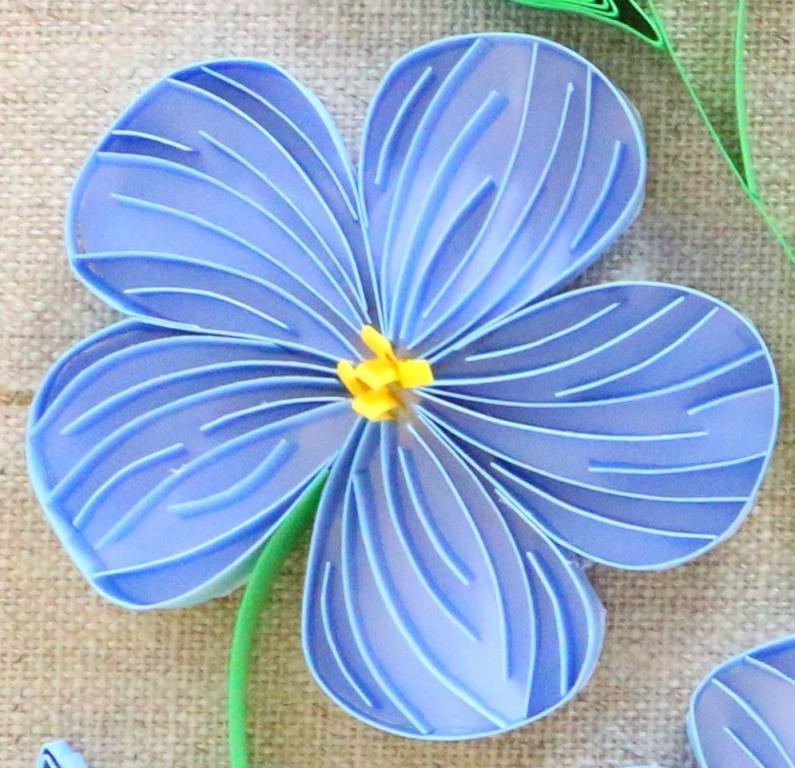 Quilling fleur de lin loisirs creatifs d eugenie