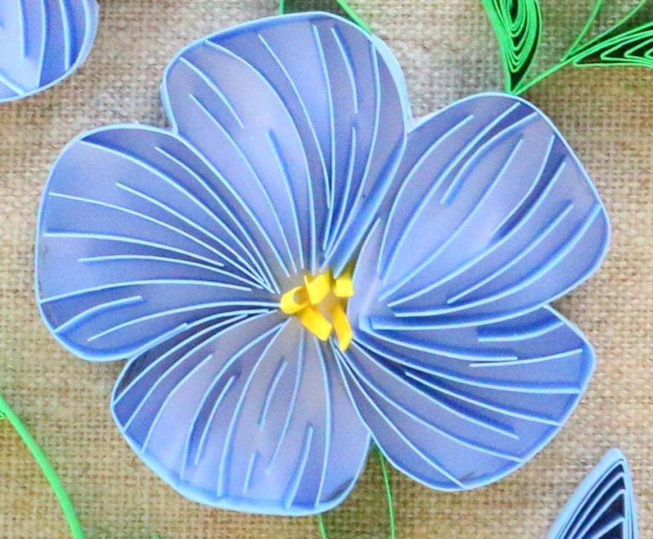 Quilling modele de fleur de lin