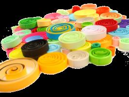 Quilling paperolle bande papier roule spirale cercle couleur