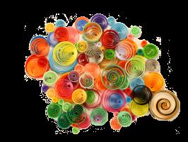 Quilling paperolles spirales couleur cercle bande papier roule