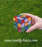 Quilling rubik s cube herbe main annees 80 retro bande papier roule paperolle loisirs creatifs eugenie