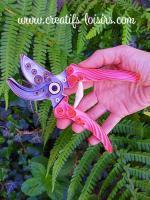 Quilling secateur outil jardin jardinage bande papier roule paperolles diy loisir creatif eugenie artisant art