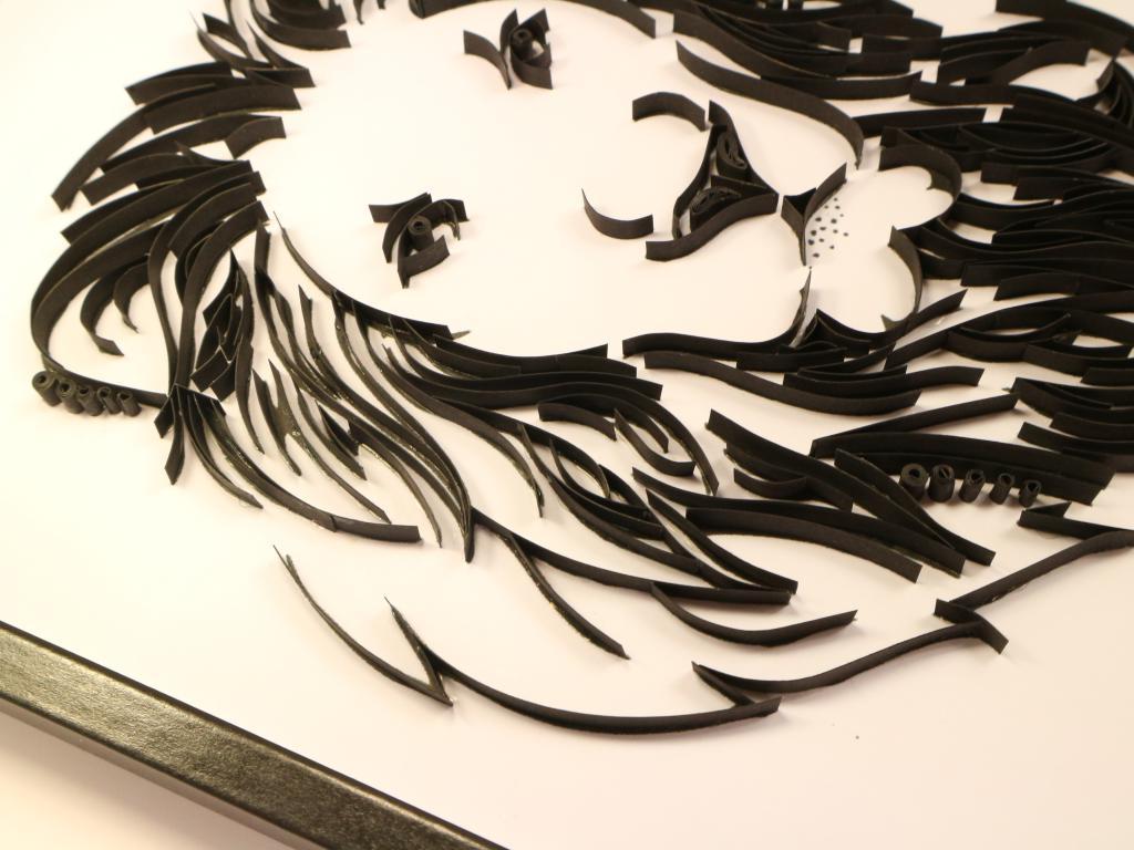 tableau quilling t te de lion kit d 39 initiation. Black Bedroom Furniture Sets. Home Design Ideas