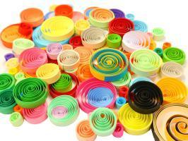 Rond quilling paperole papier roule loisir creatif couleur 1