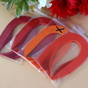 Rouge orange assortiment bande papier quilling loisir creatif 02