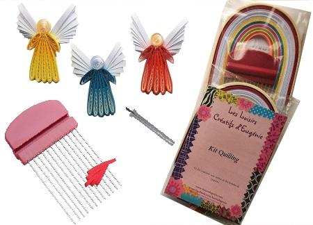 Set quilling anges materiel tuto loisirs creatifs d eugenie 01