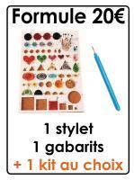 Stylet gabarit kit quilling outil materiel initiation papier roule paerolles diy loisirs creatifs eugenie 20