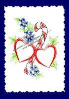 Sucre d orge coeur noel fleur broderie papier loisir creatif eugenie