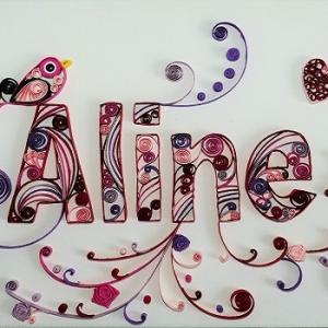 Tableau prenom quilling aline loisirs creatifs