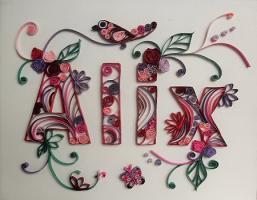 Tableau prenom quilling alix loisirs creatifs 1