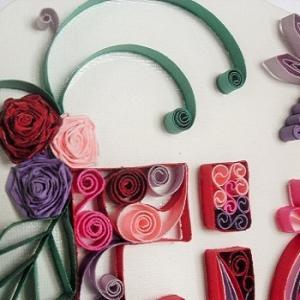 Tableau prenom quilling fiona loisirs creatifs detail 01