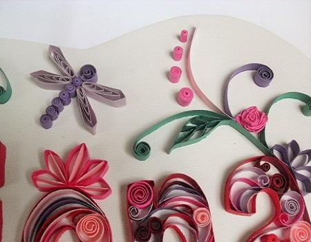 Tableau prenom quilling fiona loisirs creatifs detail 02