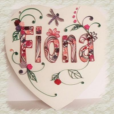 Tableau quilling Fiona