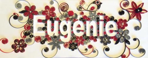 Tableau quilling loisirs creatifs d eugenie prenom