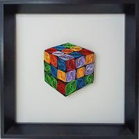 Tableau quilling rubik s cube bande papier roule paperolle loisir creatif eugenie diy art spirale