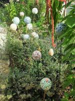 Tuteurs boules deco de jardin mosaique loisirs creatifs 1