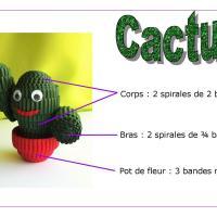 Tuto cactus carton ondule quilling enfant loisirs creatifs