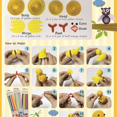 Tuto canard carton ondule quilling enfant loisir creatif