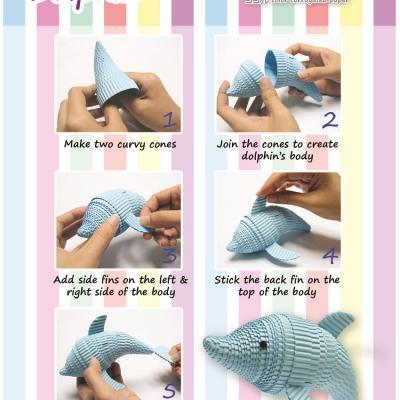 Tuto dauphin carton ondule quilling enfant loisir creatif