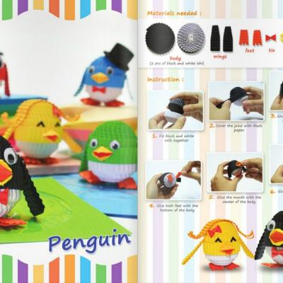 Tuto pingouin carton ondule loisirs creatifs 1