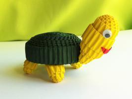 Tuto tortue carton ondule quilling enfant loisirs creatifs 2