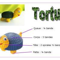 Tuto tortue carton ondule quilling enfant loisirs creatifs