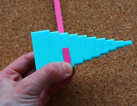 Utiliser une tour quilling triangle loisir creatif 01