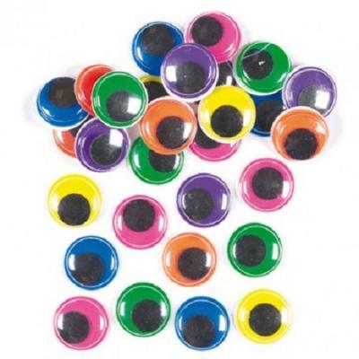 Yeux mobiles 8 mm coloré